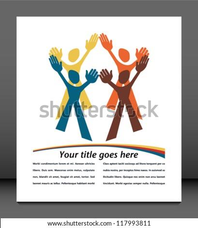 Teamwork design vector. - stock vector