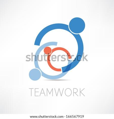teamwork icon - stock vector