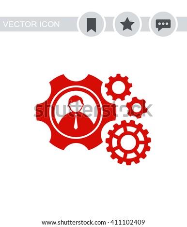 Teamwork Icon.  - stock vector