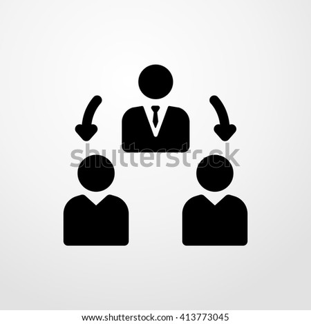 teamwork icon. manager sign. - stock vector