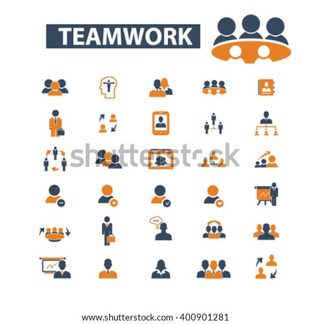 teamwork icons  - stock vector