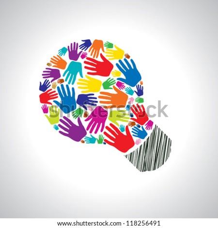 teamwork idea - stock vector