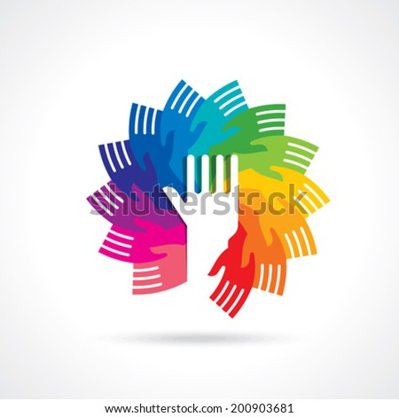 teamwork idea illustration  - stock vector