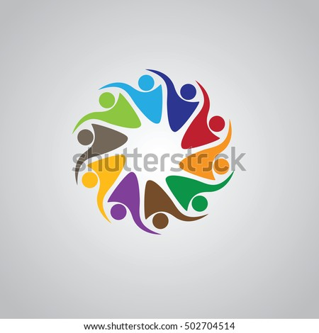 Teamwork meeting 10 abstract concept social stock vector 502704514 abstract concept of a social network friends community group sciox Gallery