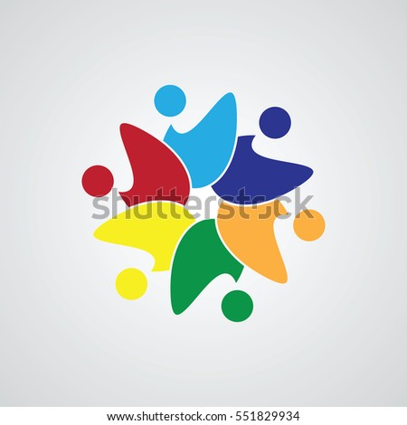 Teamwork meeting 6 abstract concept social stock vector 551829934 abstract concept of a social network friends community group sciox Gallery