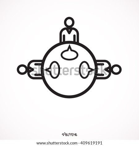 Teamwork Meeting Decision Dialog Discussion Communication Debate Brainstorming Forum Vector Design - stock vector