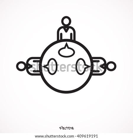 Teamwork Meeting Decision Dialog Discussion Communication Debate Brainstorming Forum Vector Design - stock vector