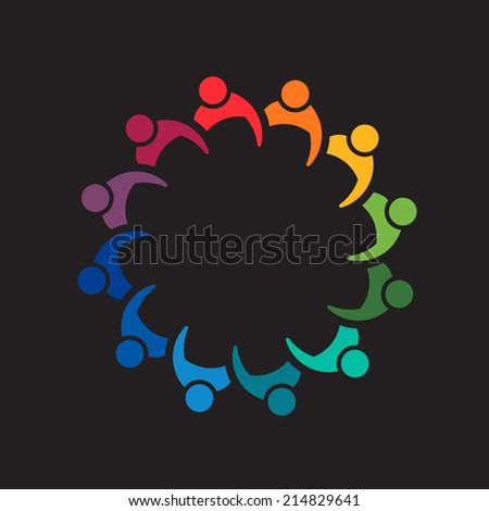 Teamwork people meeting 12. Image icon design vector