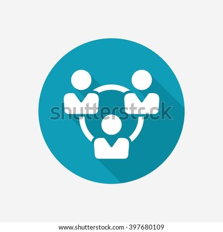 Teamwork vector icon - stock vector