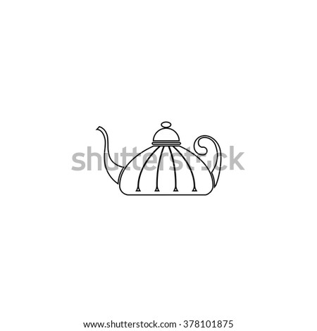 Teapot , kettle, tea kettle vector icon.