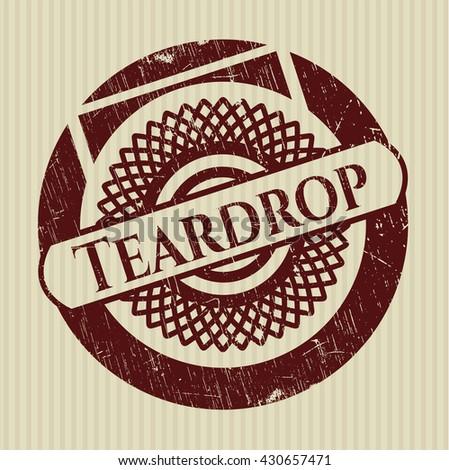Teardrop rubber seal - stock vector