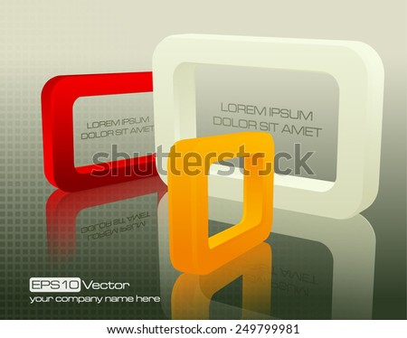 Tech business design composition, colorful  soft light rectangles. Vector illustration - stock vector