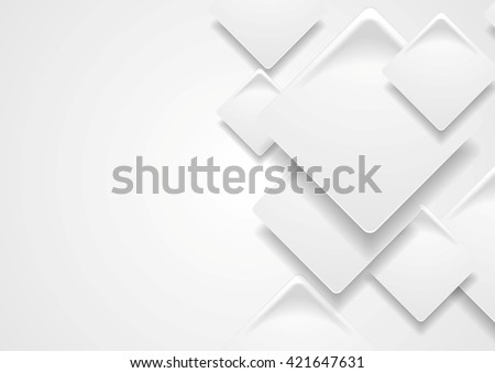 Tech corporate paper grey squares background. Vector design - stock vector
