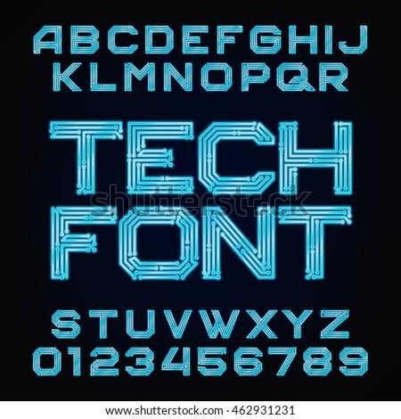 Digital Font Stock Images Royalty Free Images Vectors