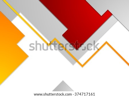 Tech minimal corporate brochure template. Vector illustration background - stock vector