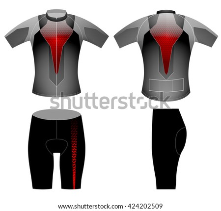 Tech red lighting,cycling vest design vector on a white background