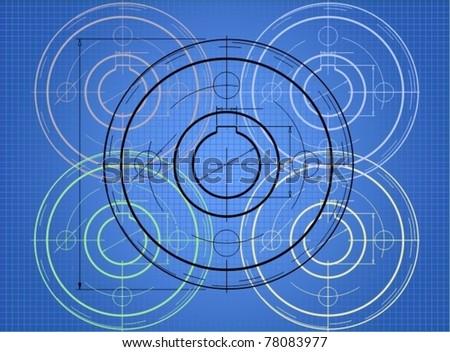 Technical blueprint - stock vector