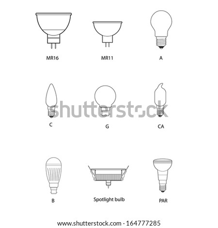 Technical draw of bulb - stock vector