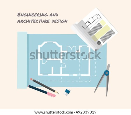 Stock images royalty free images vectors shutterstock for Architecture design tools free