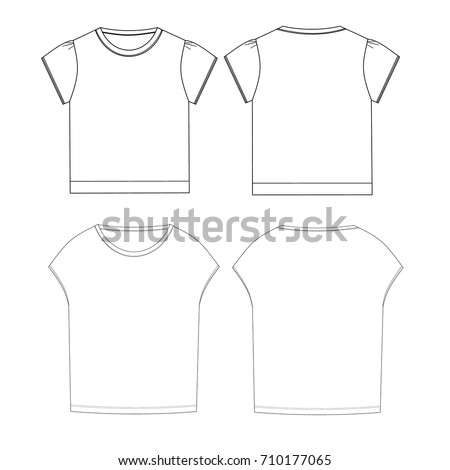 technical drawing sketch t shirt vector illustration