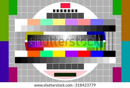 technical problems on TV - stock vector