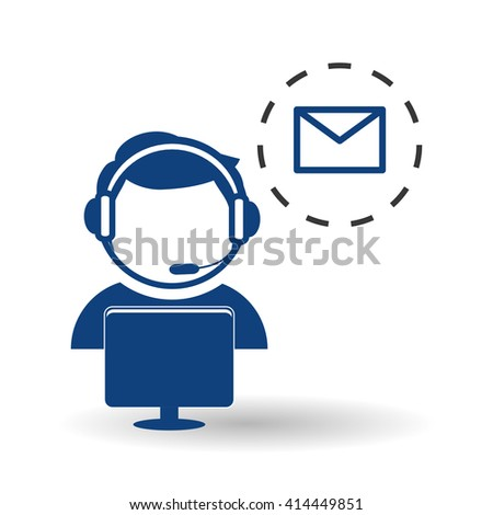 Technical service. call center icon. support concept