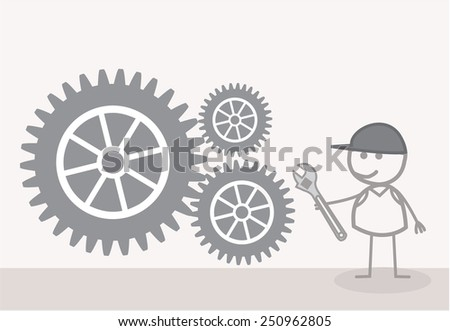 Technician Gear - stock vector