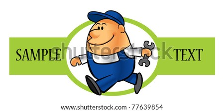 technician icon - stock vector
