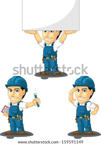 Technician or Repairman Customizable Mascot 8  - stock vector