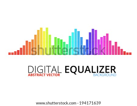 Techno equalizer, abstract technology vector background - stock vector