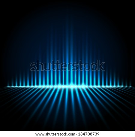 Techno equalizer illustration, abstract technology vector background - stock vector