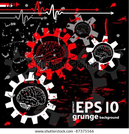 techno medical grunge background. vector illustration - stock vector