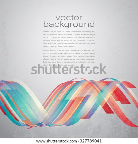 Techno Vector Curves Tapes Abstract Background - stock vector