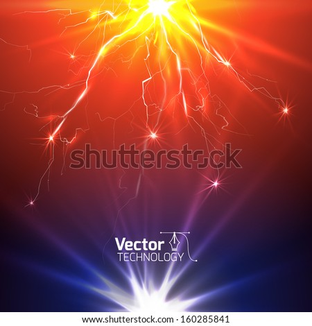 Technological background with the radiance for business presentation - stock vector