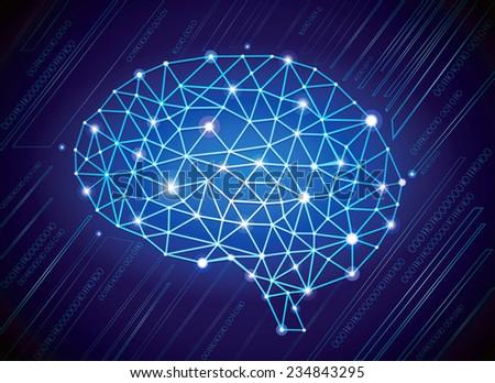 Technological Brain - stock vector