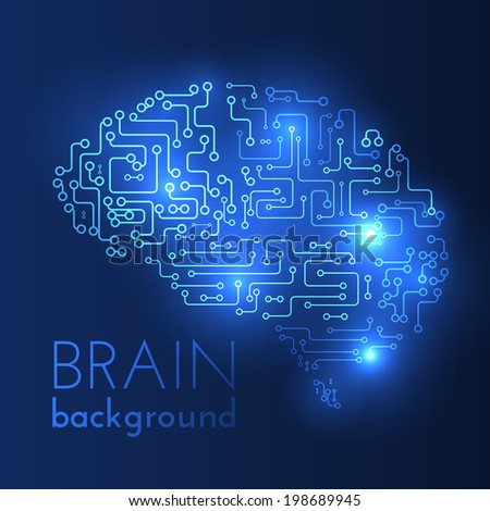 Technological brains vector background. Vector eps10.  - stock vector