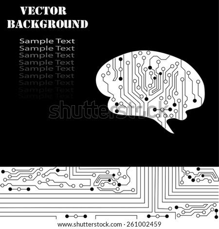 Technological brains vector background. Vector eps10. - stock vector