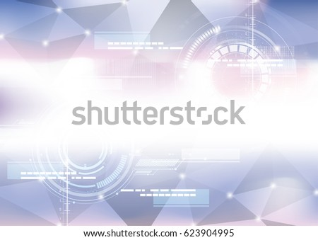 Technological geometric colorful scanning interface abstract background vector design