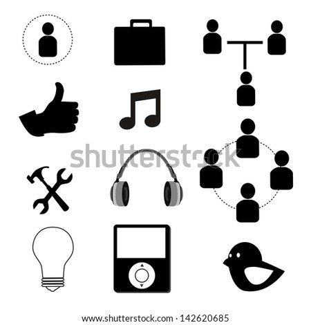 technological icons over white background vector illustration