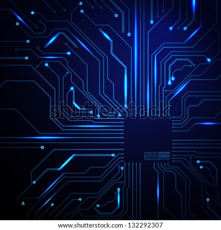 Technological Vector Background Circuit Board Texture Stock Vector ...