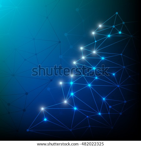 Technology abstract background blue