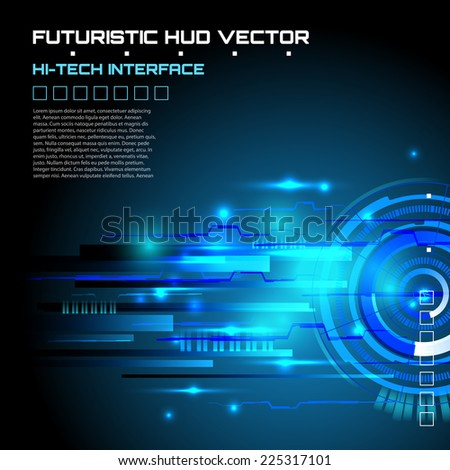 Technology abstract background, Futuristic HUD,  vector