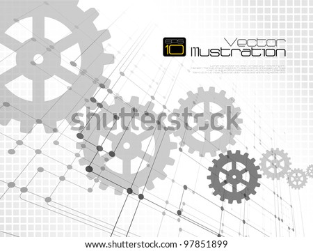 Technology abstract background - vector illustration - stock vector