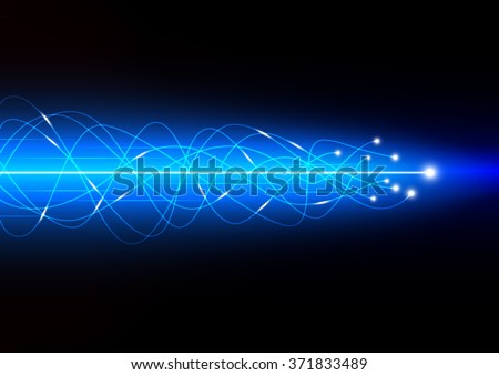 Technology abstract background with concept of high speed data transference, vector illustration - stock vector