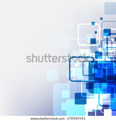 technology abstract digital pixel background, vector illustration - stock vector