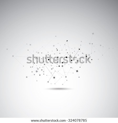 Technology abstract figure - stock vector