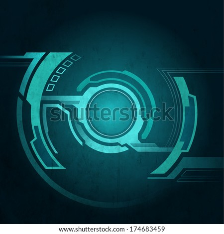 Technology abstract scratched background. vector graphics - stock vector