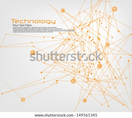 Technology And Communication Background - stock vector