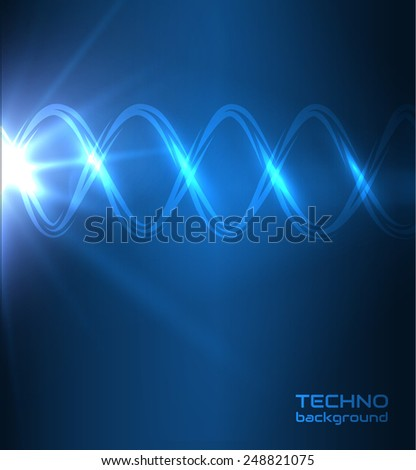 Technology background. Dna strand. Medical background. Vector eps10. - stock vector