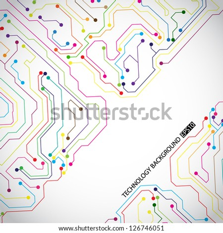 Technology background. EPS10 vector - stock vector